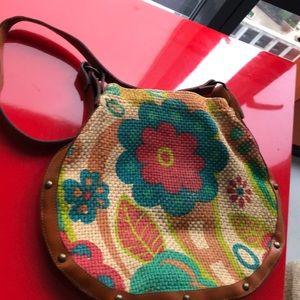 Aldo floral satchel bag